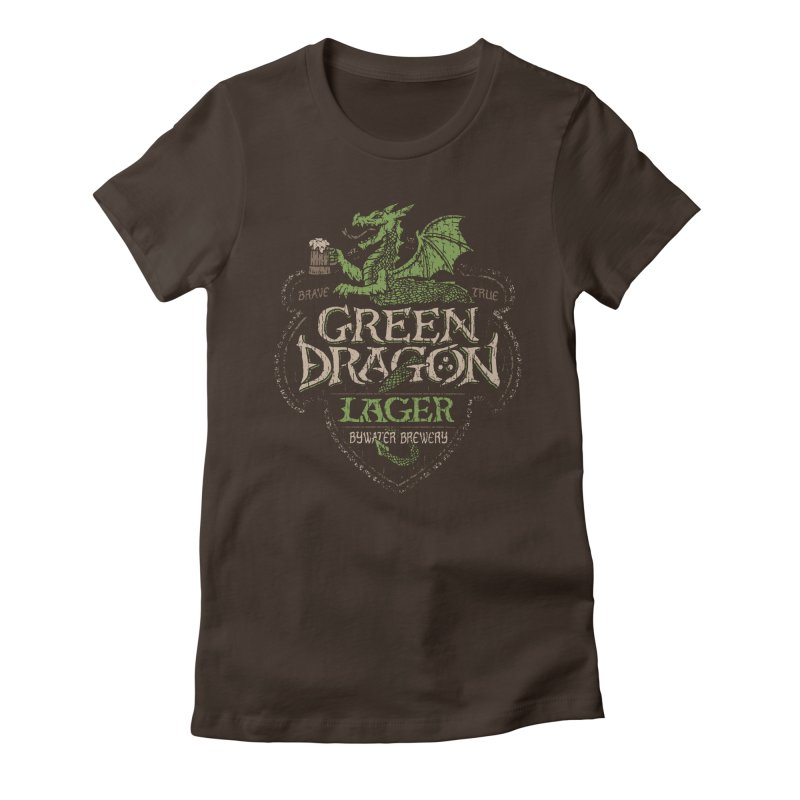 Green Dragon Lager Women's Fitted T-Shirt by CoryFreemanDesign