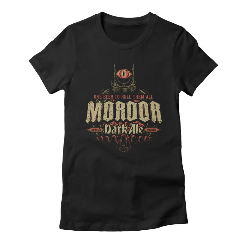 Mordor Dark Ale Women's Fitted T-Shirt by CoryFreemanDesign
