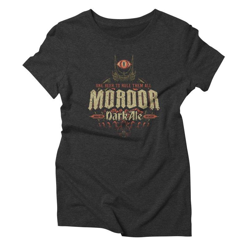 Mordor Dark Ale Women's Triblend T-Shirt by CoryFreemanDesign