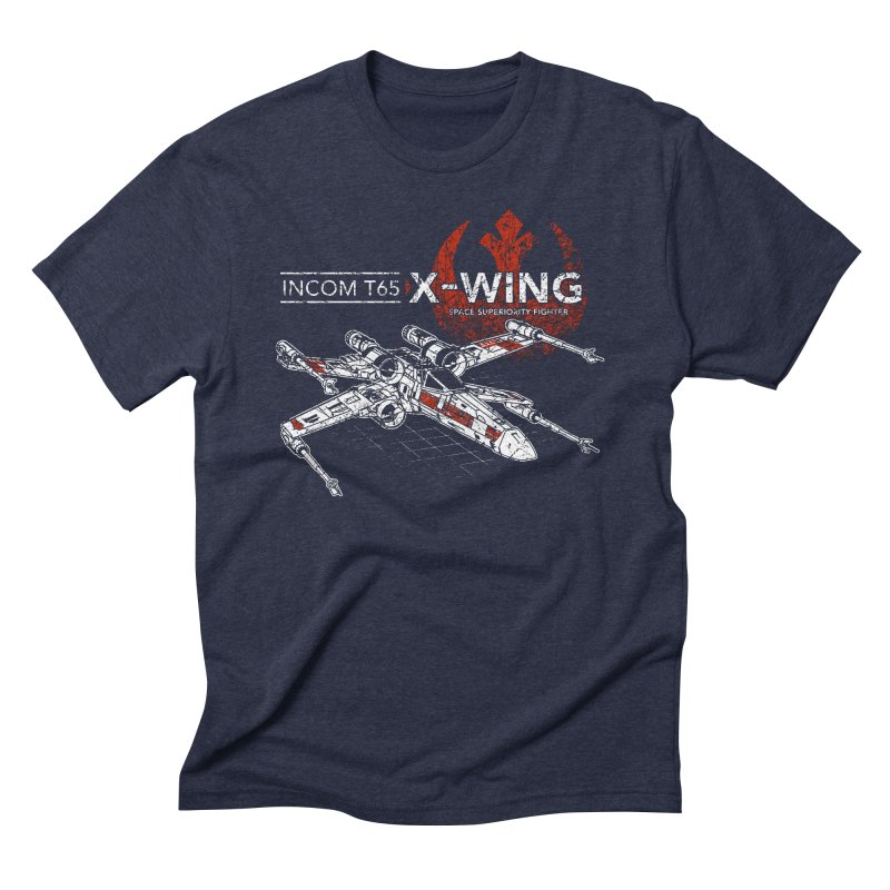 T-65 X-Wing Men's Triblend T-shirt by CoryFreemanDesign