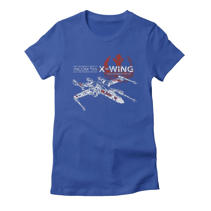 T-65 X-Wing Women's Fitted T-Shirt by CoryFreemanDesign