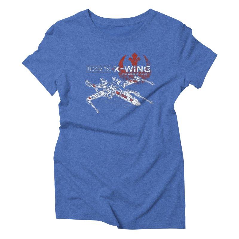 T-65 X-Wing Women's Triblend T-shirt by CoryFreemanDesign