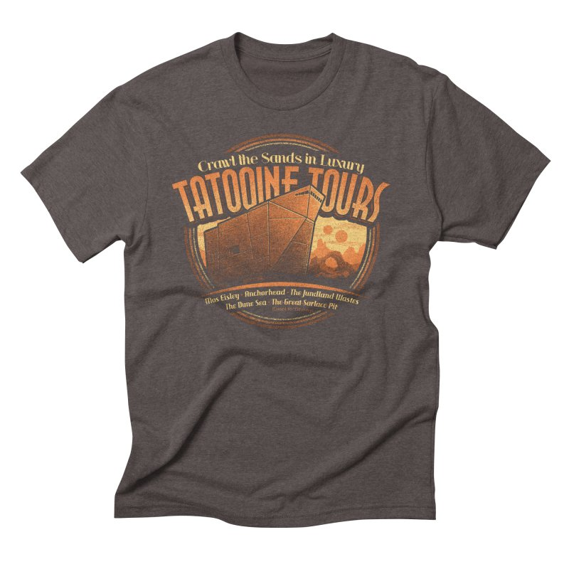 Tatooine Tours Men's Triblend T-shirt by CoryFreemanDesign