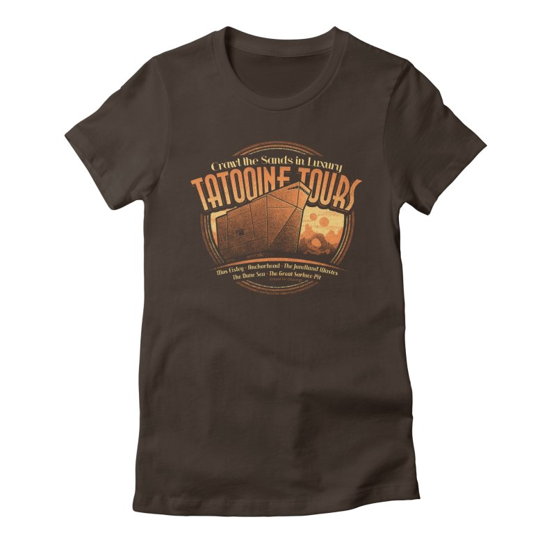 Tatooine Tours Women's Fitted T-Shirt by CoryFreemanDesign