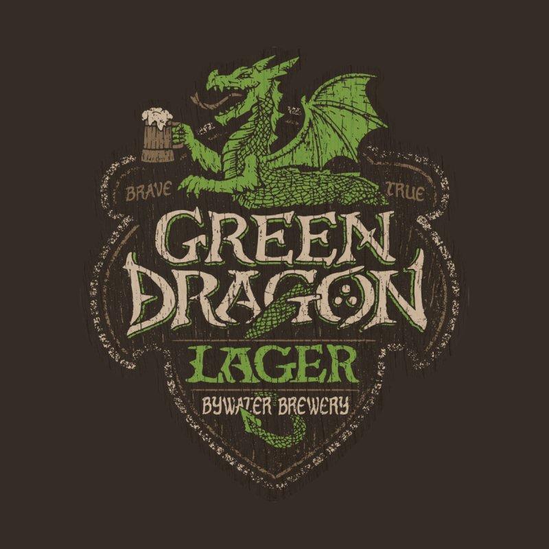 Green Dragon Lager - Print Home Rug by CoryFreemanDesign