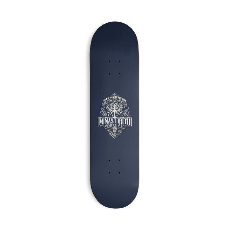 Minas Tirith White Ale - Print Accessories Skateboard by CoryFreemanDesign