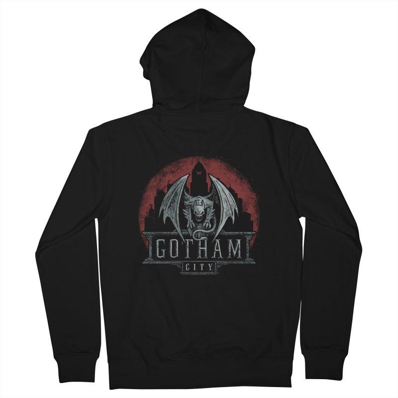 Gargoyle of Gotham Men's Zip-Up Hoody by CoryFreemanDesign