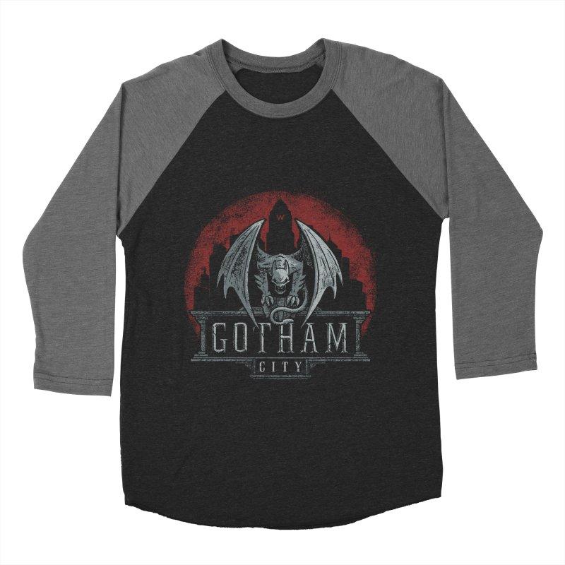 Gargoyle of Gotham Men's Baseball Triblend T-Shirt by CoryFreemanDesign