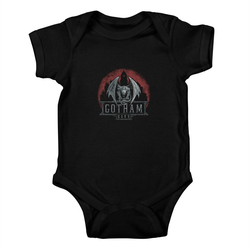 Gargoyle of Gotham Kids Baby Bodysuit by CoryFreemanDesign