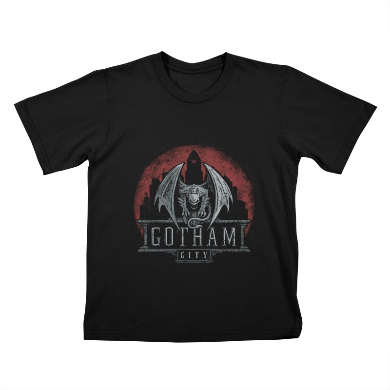 Gargoyle of Gotham Kids T-Shirt by CoryFreemanDesign