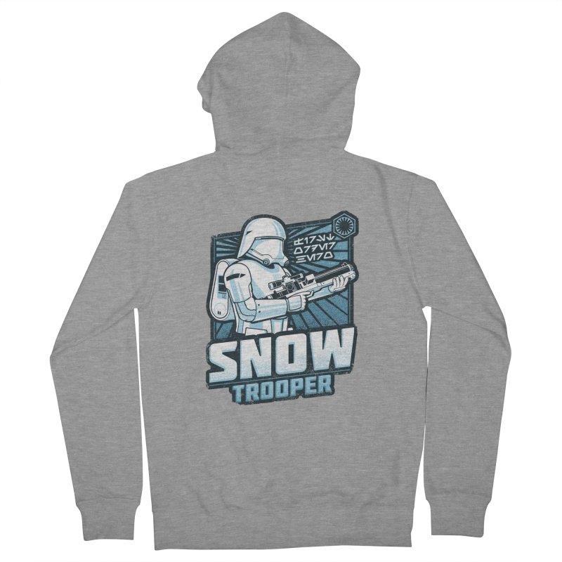 First Order Hero - Snowtrooper Men's Zip-Up Hoody by CoryFreemanDesign