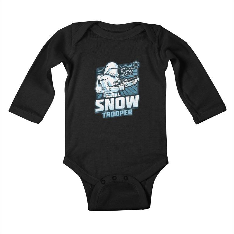 First Order Hero - Snowtrooper Kids Baby Longsleeve Bodysuit by CoryFreemanDesign