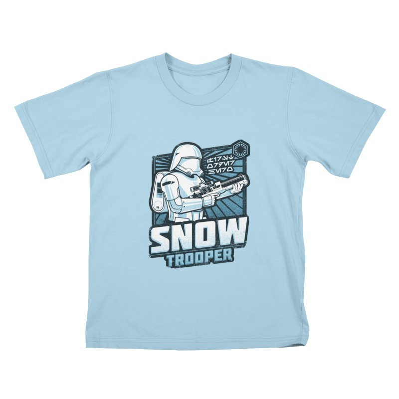 First Order Hero - Snowtrooper Kids T-Shirt by CoryFreemanDesign