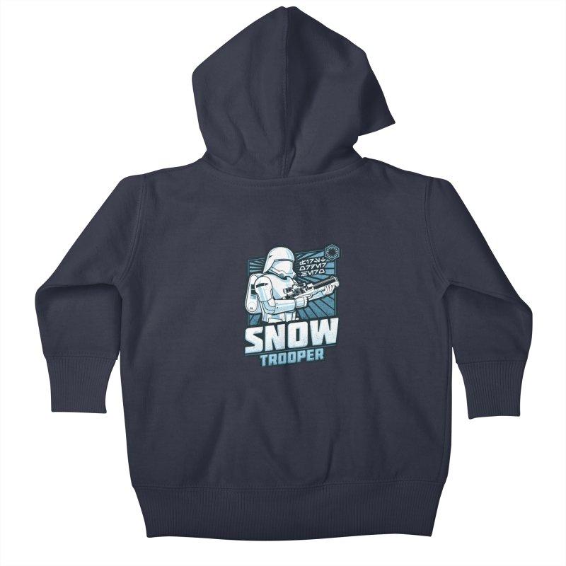 First Order Hero - Snowtrooper Kids Baby Zip-Up Hoody by CoryFreemanDesign