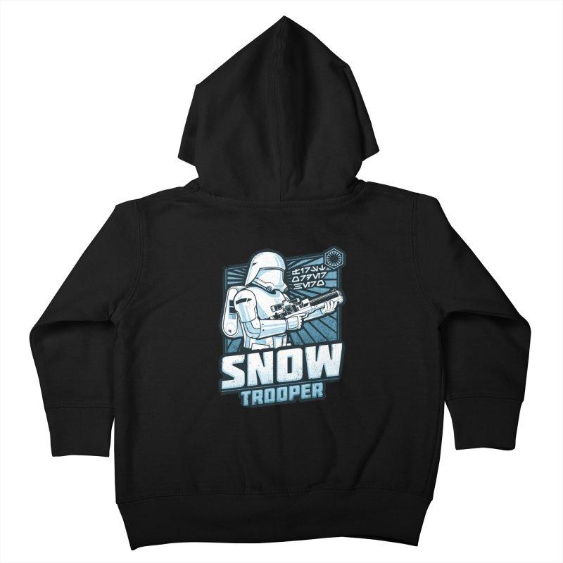 First Order Hero - Snowtrooper Kids Toddler Zip-Up Hoody by CoryFreemanDesign