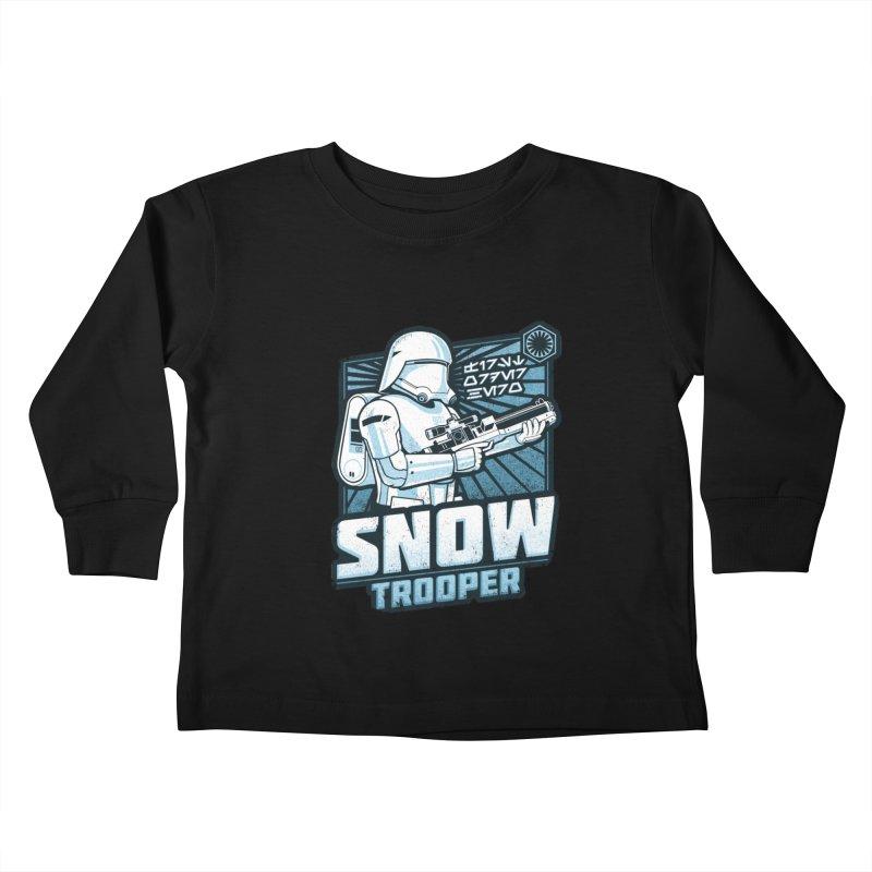 First Order Hero - Snowtrooper Kids Toddler Longsleeve T-Shirt by CoryFreemanDesign