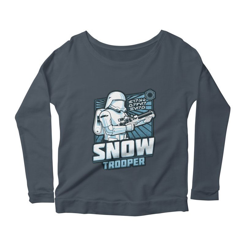 First Order Hero - Snowtrooper Women's Longsleeve Scoopneck  by CoryFreemanDesign