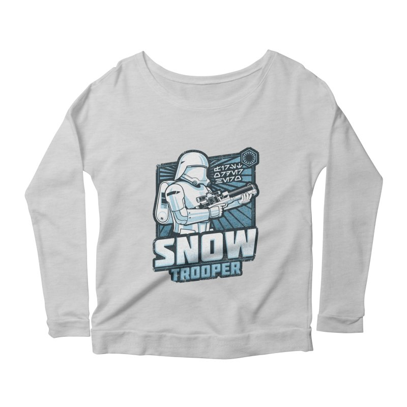 First Order Hero - Snowtrooper Women's Longsleeve Scoopneck  by CoryFreemanDesign