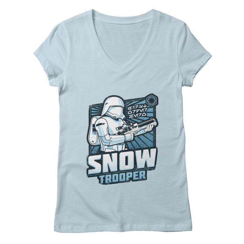 First Order Hero - Snowtrooper Women's V-Neck by CoryFreemanDesign