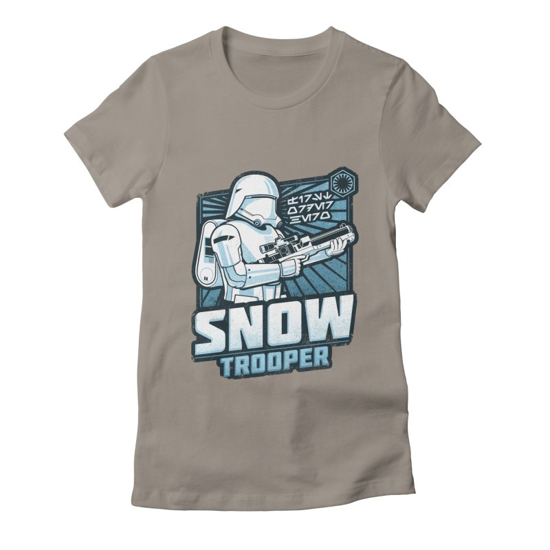 First Order Hero - Snowtrooper Women's Fitted T-Shirt by CoryFreemanDesign