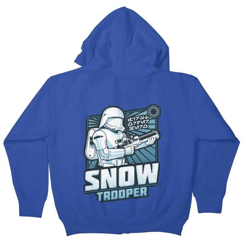 First Order Hero - Snowtrooper Kids Zip-Up Hoody by CoryFreemanDesign