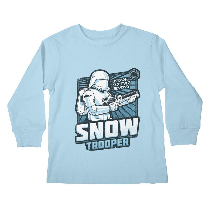 First Order Hero - Snowtrooper Kids Longsleeve T-Shirt by CoryFreemanDesign