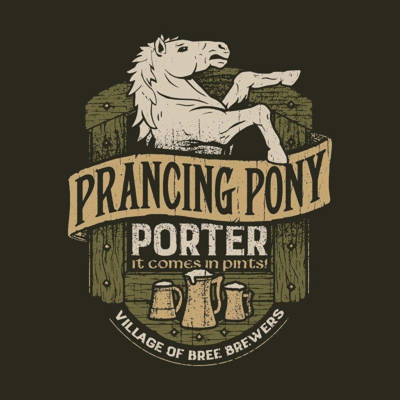 Prancing Pony Porter Men's T-shirt by CoryFreemanDesign
