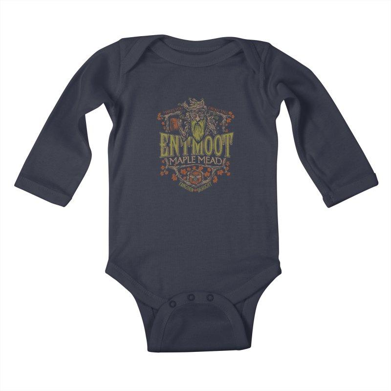 Entmoot Maple Mead Kids Baby Longsleeve Bodysuit by CoryFreemanDesign