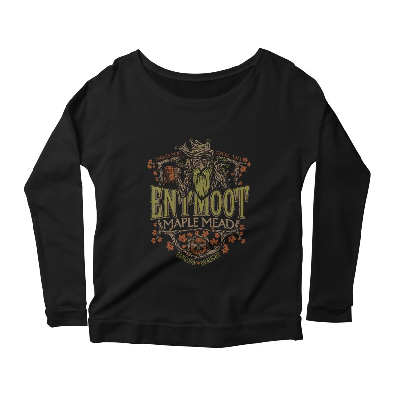 Entmoot Maple Mead Women's Longsleeve Scoopneck  by CoryFreemanDesign