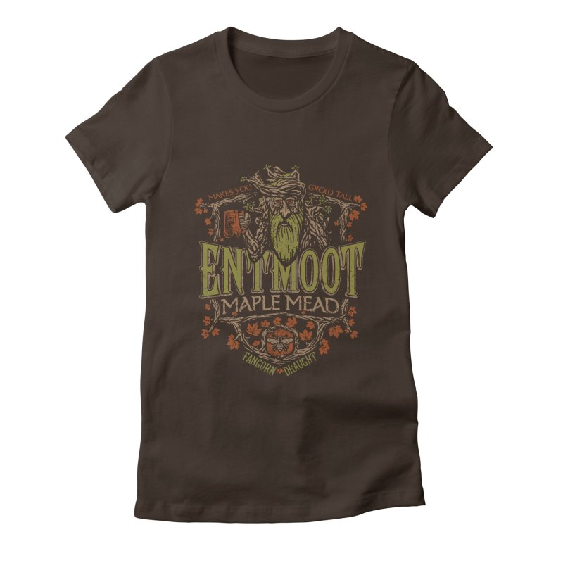 Entmoot Maple Mead Women's Fitted T-Shirt by CoryFreemanDesign