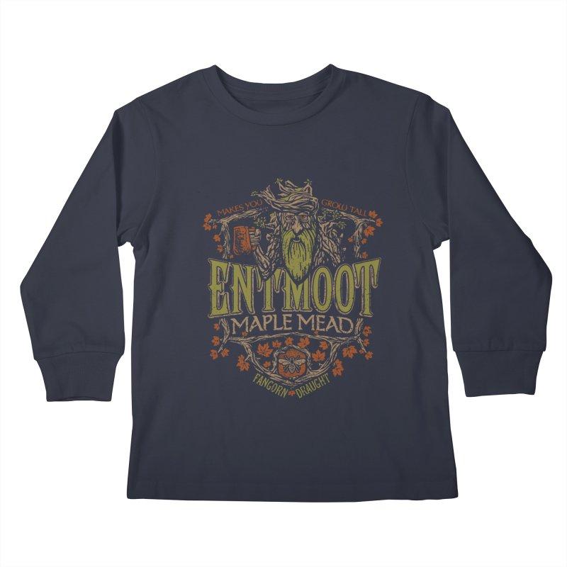 Entmoot Maple Mead Kids Longsleeve T-Shirt by CoryFreemanDesign
