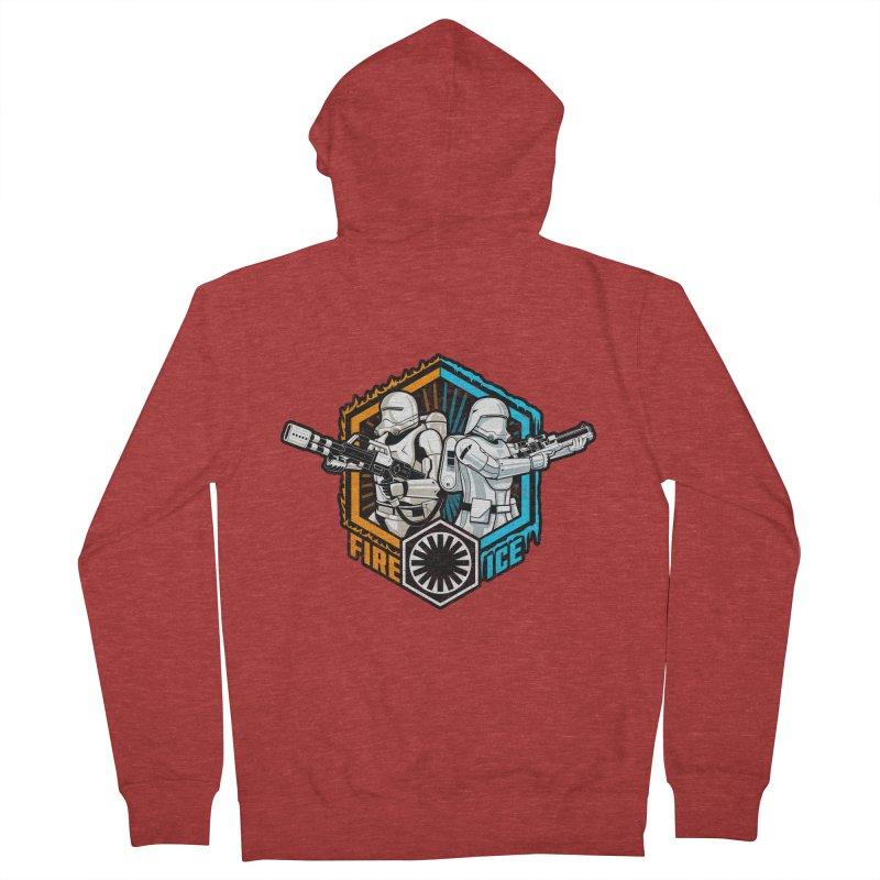 First Order Fire & Ice Men's Zip-Up Hoody by CoryFreemanDesign