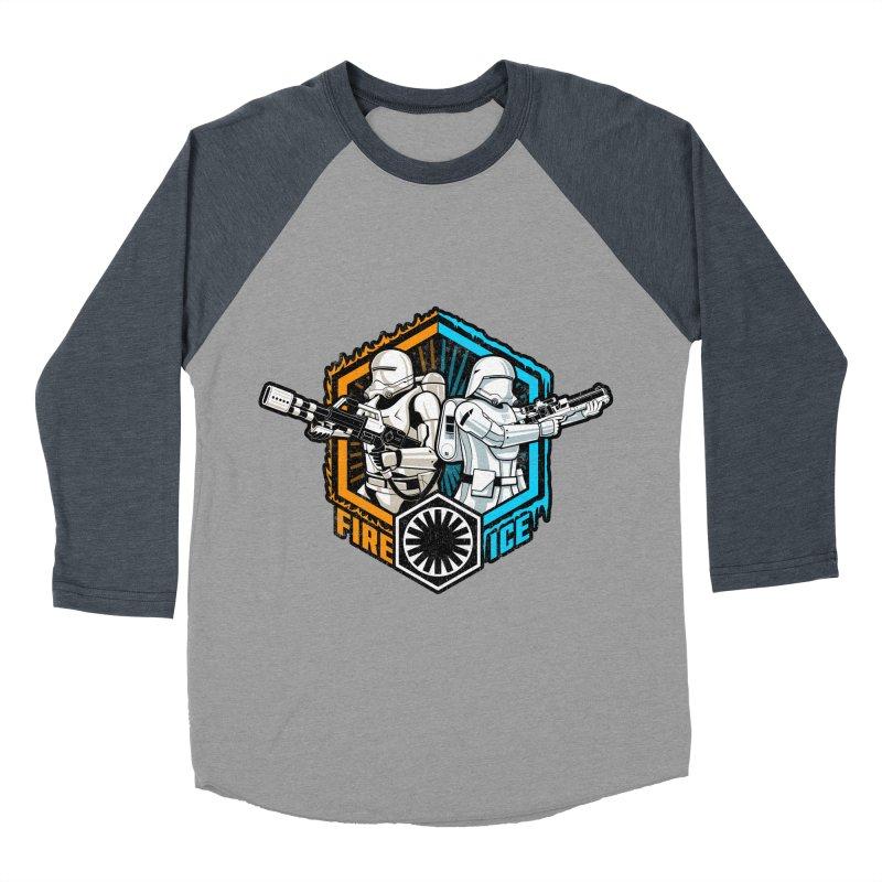 First Order Fire & Ice Men's Baseball Triblend T-Shirt by CoryFreemanDesign