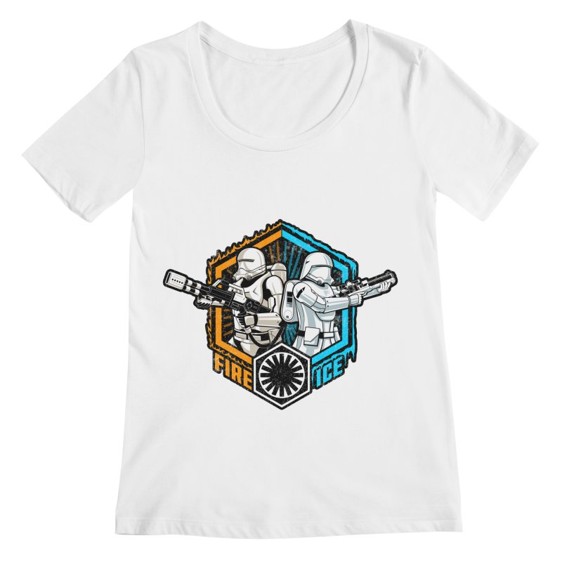 First Order Fire & Ice Women's Scoopneck by CoryFreemanDesign