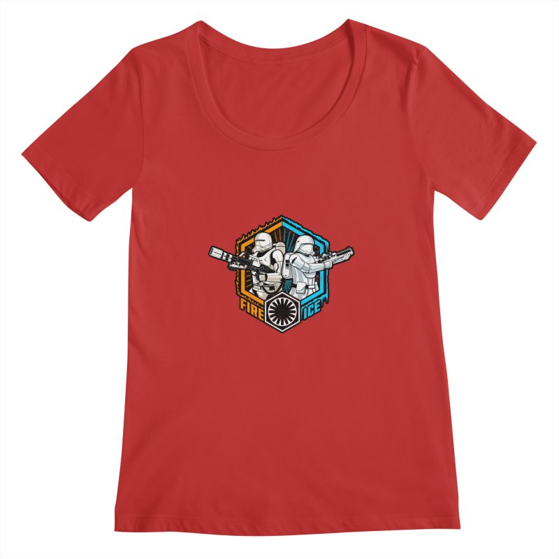 First Order Fire & Ice Women's Scoopneck by CoryFreemanDesign