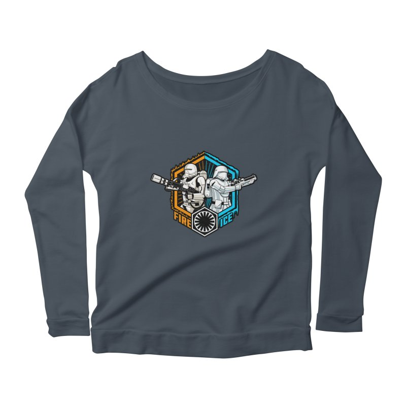 First Order Fire & Ice Women's Longsleeve Scoopneck  by CoryFreemanDesign