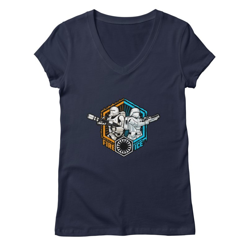 First Order Fire & Ice Women's V-Neck by CoryFreemanDesign