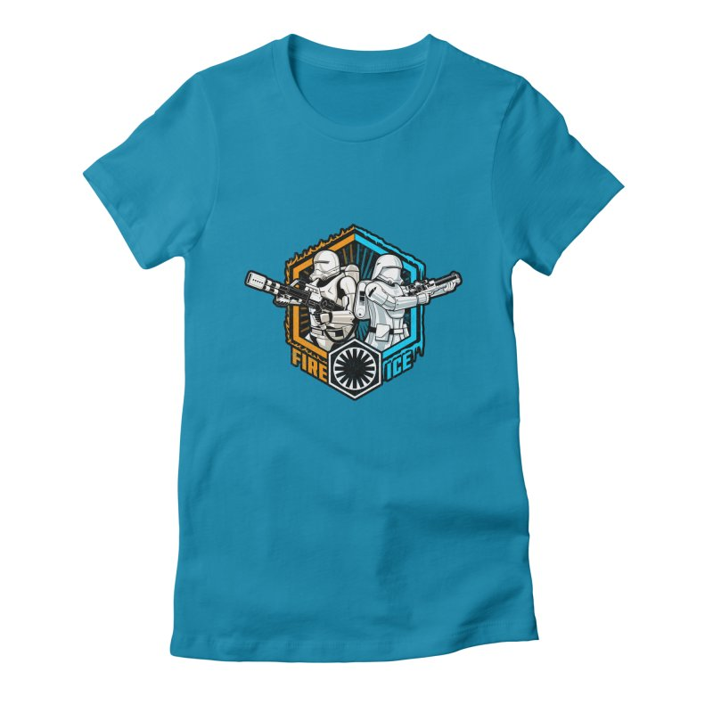 First Order Fire & Ice Women's Fitted T-Shirt by CoryFreemanDesign