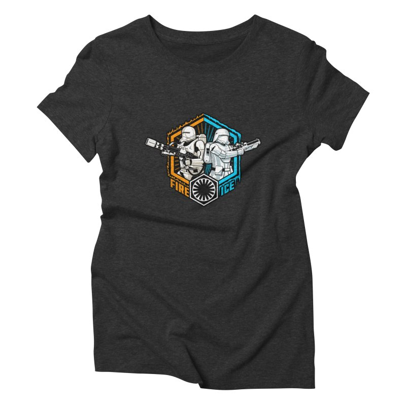 First Order Fire & Ice Women's Triblend T-shirt by CoryFreemanDesign
