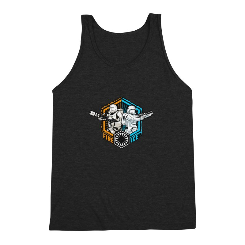 First Order Fire & Ice Men's Triblend Tank by CoryFreemanDesign