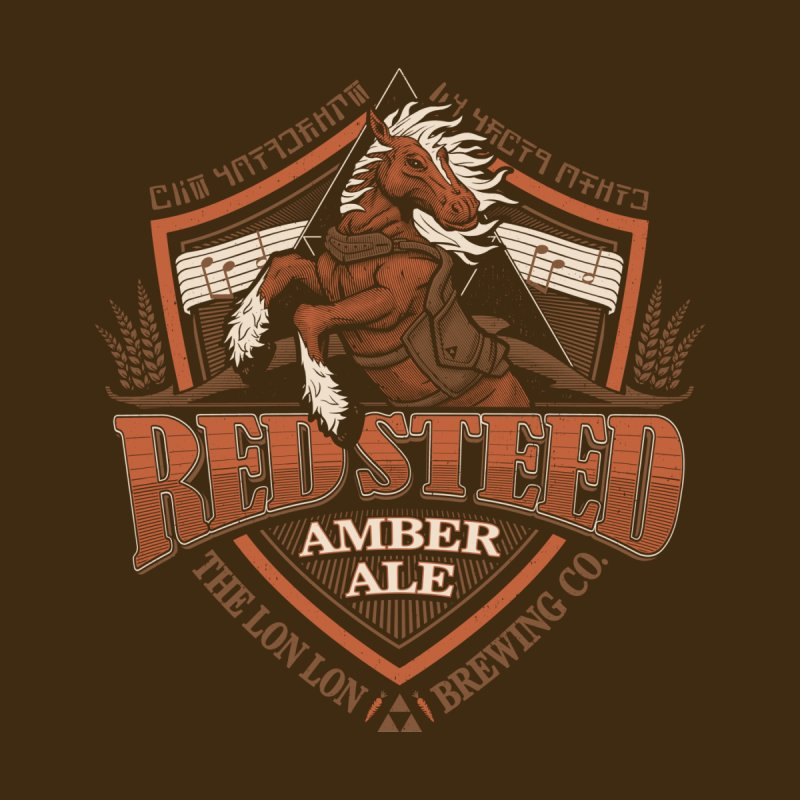 Red Steed Amber Ale by CoryFreemanDesign