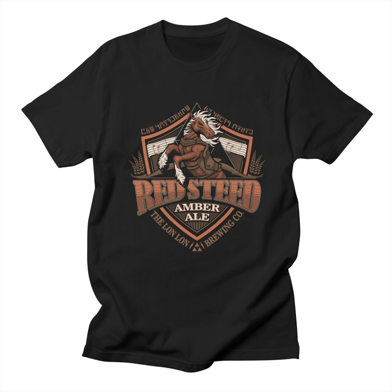 Red Steed Amber Ale Men's T-Shirt by CoryFreemanDesign