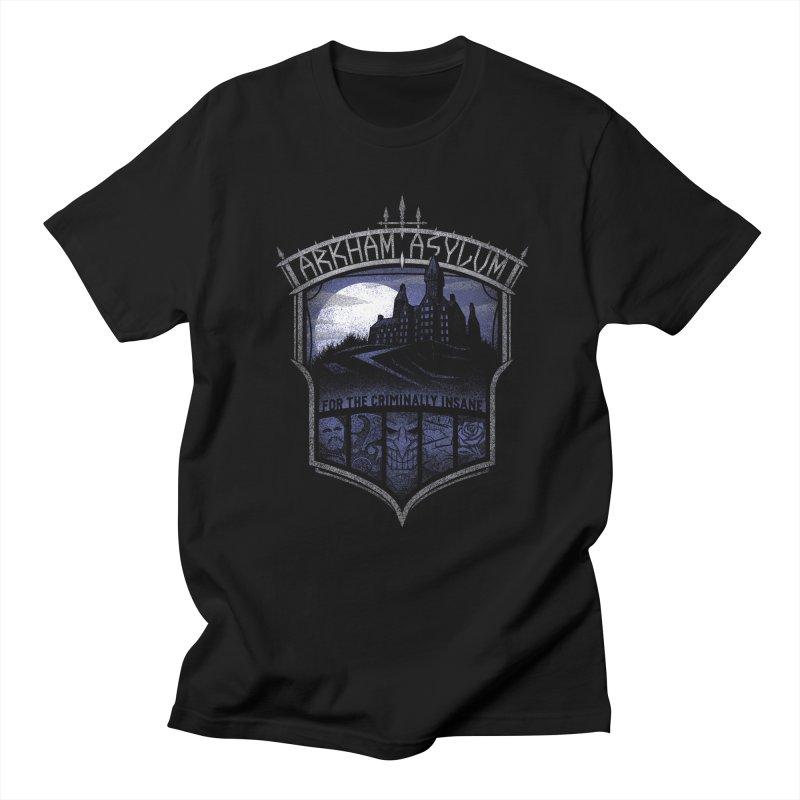 Arkham Asylum Men's T-shirt by CoryFreemanDesign