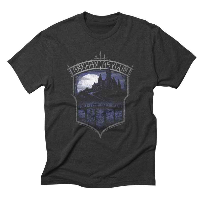 Arkham Asylum Men's Triblend T-Shirt by CoryFreemanDesign