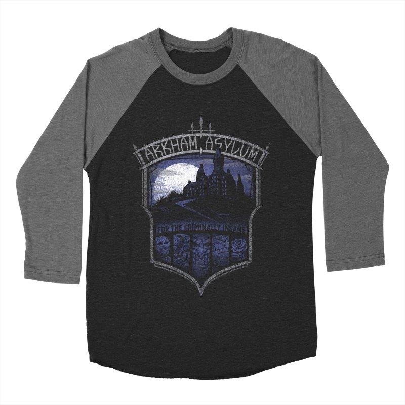 Arkham Asylum Men's Baseball Triblend T-Shirt by CoryFreemanDesign