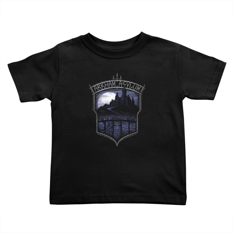 Arkham Asylum Kids Toddler T-Shirt by CoryFreemanDesign