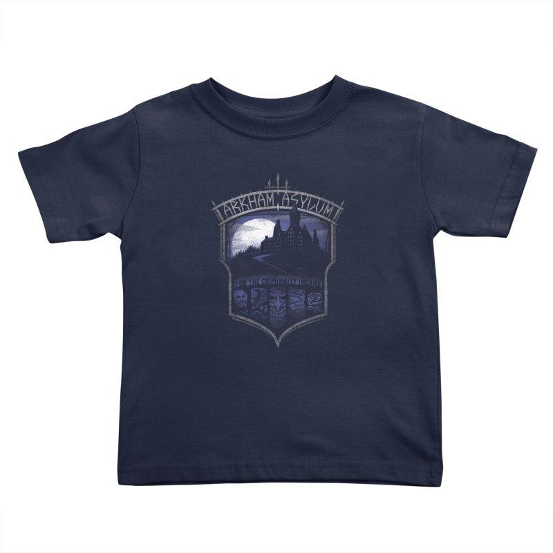 Arkham Asylum Kids Toddler T-Shirt by CoryFreemanDesign