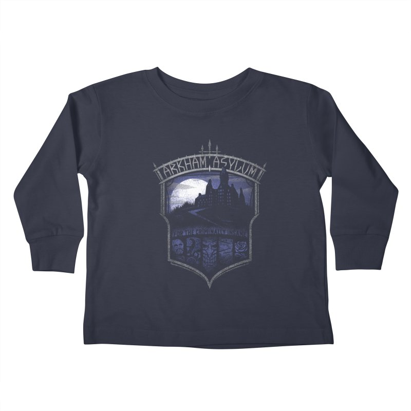 Arkham Asylum Kids Toddler Longsleeve T-Shirt by CoryFreemanDesign