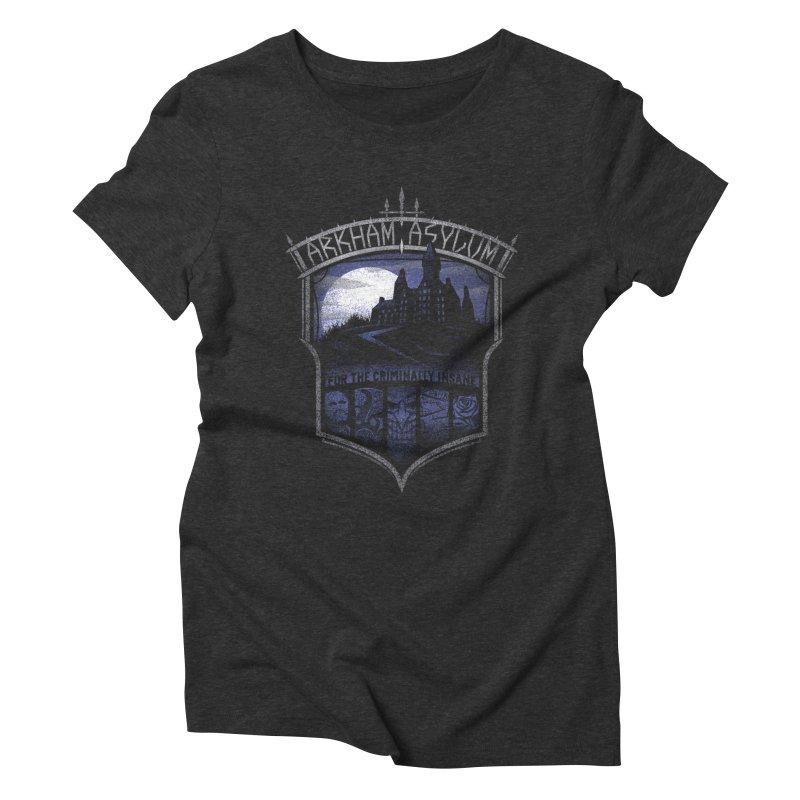 Arkham Asylum Women's Triblend T-Shirt by CoryFreemanDesign