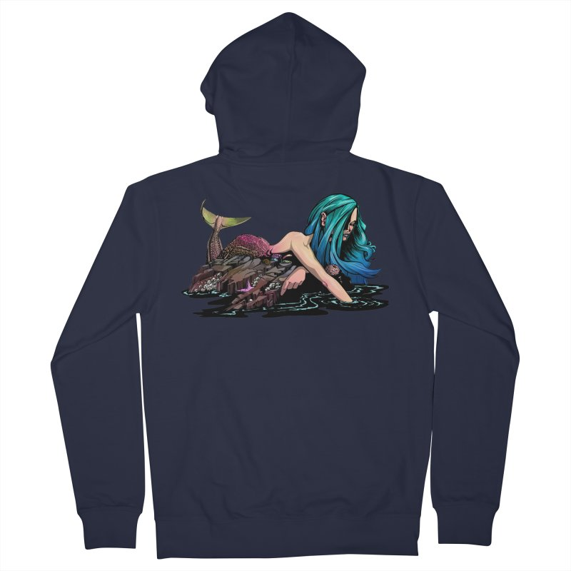 Mermaid on the Rocks Women's Zip-Up Hoody by Cory Kerr's Artist Shop (see more at corykerr.com)